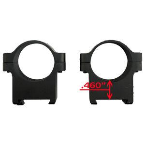 "CZ USA 550/557 Scope Rings 1"" Tube Diameter Low Height .460"" Machined Aluminum Matte Black"
