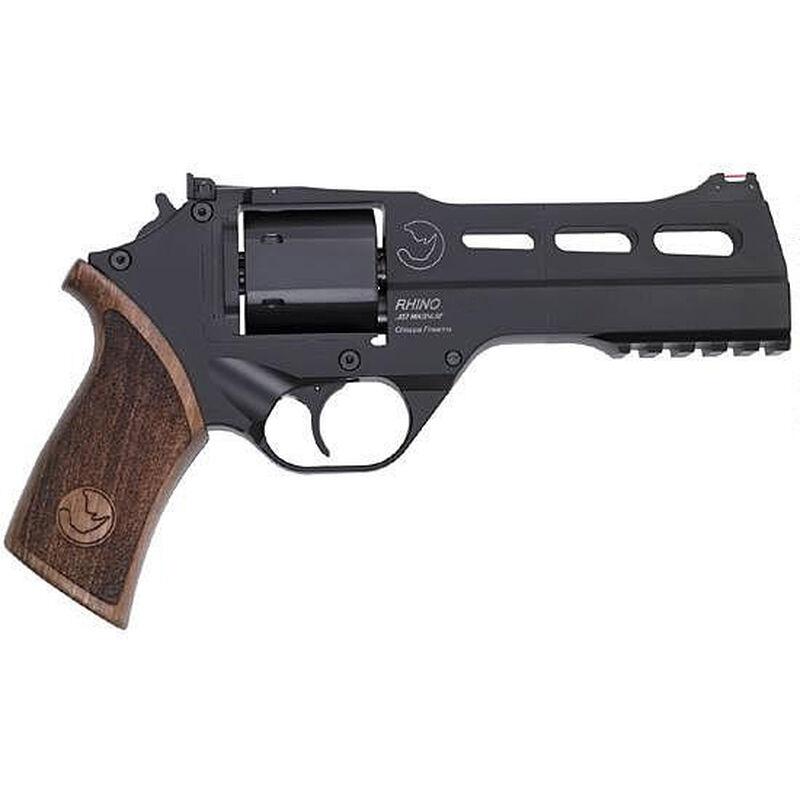 """Chiappa Rhino 50SAR 357 Mag 5"""" 6rds Wood Grips Black"""