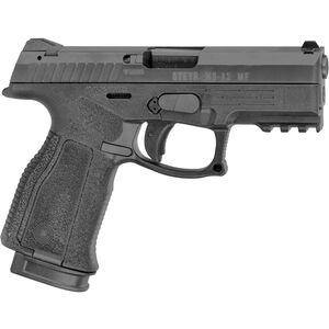 "Steyr Arms M9-A2 MF 9mm Luger Semi Pistol 4"" Barrel 17 Rounds Steyr Trapezoid Sights Modular Polymer Grip Frame Black"