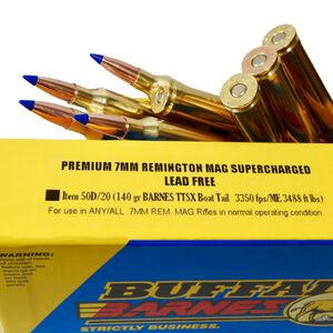 Buffalo Bore 7mm Remington Magnum Ammunition 20 Rounds TTSX-BT 140 Grains