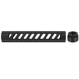 ATI AR-15 Aluminum 6-Sided Rifle Length Free Float Forend with Slotted Barrel Nut Black A.5.10.1174