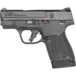 "S&W M&P 9 Shield Plus 9mm Luger Semi-Auto Pistol 3.1"" Barrel 13 Rounds Thumb Safety Black"