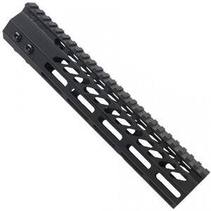 "Guntec AR-15 10"" Ultra Slimline Octagonal 5 Sided M-LOK Free Floating Handguard with Monolithic Top Rail 6.1 oz Aluminum Black"