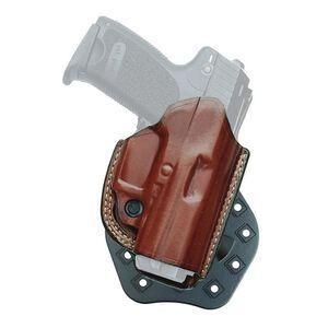Aker Leather 268 FlatSider Thumbreak XR17 GLOCK 19/23 Paddle Holster Right Hand Leather Tan