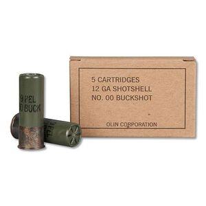 """Winchester Military Grade12 Gauge Shot Shells 25 Rounds 2 3/4"""" 00 Buckshot 9 Pellet"""