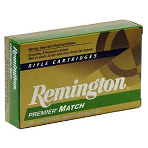 Remington Premier Match .223 Remington Ammunition 20 Rounds 77 Grain Sierra MatchKing Boat Tail Hollow Point Projectile 2788fps