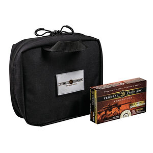 Federal Gold Medal Match 6.5 Creedmoor Ammunition 320 Rounds 140 Grain Sierra MatchKing Boat Tail Hollow Point 2675fps Plus 4 Black Nylon Zipper Bags