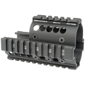 Midwest Industries Mini Draco AK Two Piece Drop In Hand Guard 6061 Aluminum Hard Coat Anodized Matte Black