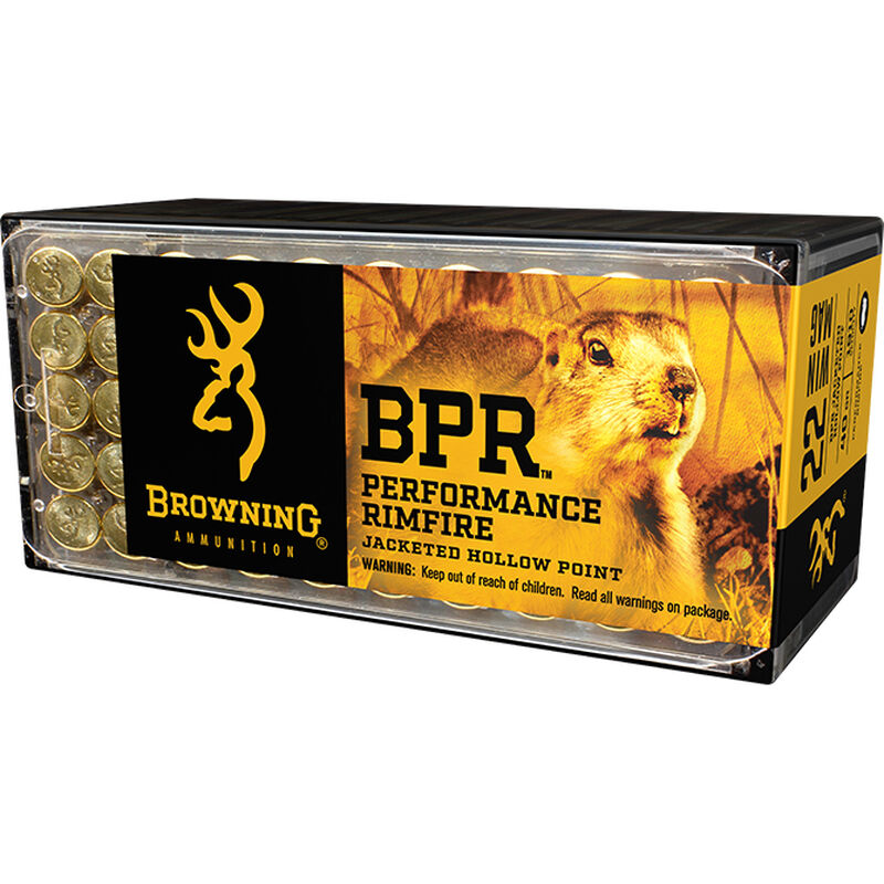 Browning BPR .22 Winchester Magnum Ammunition 1000 Rounds JHP 40 Grains B195122050