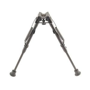 "Harris Ultra-light Bipod 1A2-L Sling Swivel Stud Mount 9"" to 13"" Telescoping/Folding Legs Aluminum Matte Black"