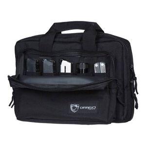 "Drago Gear Heavy Duty Double Pistol Case Dual Padded Compartments Five Internal Magazine Holders 12.5""x9.5""x4.5"" Black 12315BL"