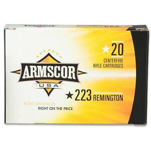 Armscor USA .223 Remington Ammunition 20 Rounds 55 Grain FMJ 3050 fps