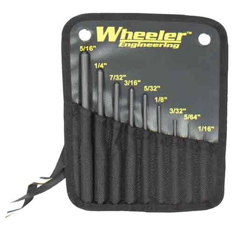 Wheeler Roll Pin Punch Set with Storage Pouch 204513