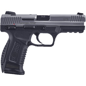 "SAR USA ST9 9mm Luger Semi Auto Pistol 4.5"" Barrel 17 Rounds 3-Dot Sights Polymer Frame Two Tone Stainless/Black Finish"
