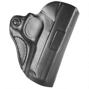 "DeSantis Mini Scabbard Holster TAURUS PT111/PT140 Millennium G2 OWB 1.5"" Belt Right Hand Leather Black"