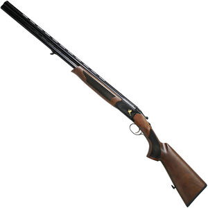 "Iver Johnson 600 12 Gauge O/U Break Action Shotgun 28"" Barrel 3"" Chamber 2 Rounds Engraved Receiver Walnut Stock Black Finish"