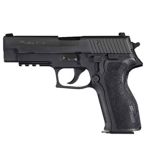 "SIG Sauer P226 Nitron Semi Auto Pistol 9mm Luger 4.4"" Barrel 15 Rounds SIGLite SIG Rail E2 Grips Stainless Steel Slide/Alloy Frame Nitron Black Finish"
