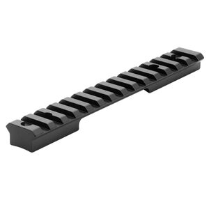 Leupold BackCountry 1-Piece Cross-Slot Scope Base Weatherby Vanguard Short Action Platforms 7075-T6 Aluminum Hard Coat Anodized Matte Black