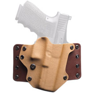 BlackPoint Leather WING OWB Holster GLOCK 19/23/32 Right Hand Leather/Kydex Hybrid Coyote Brown