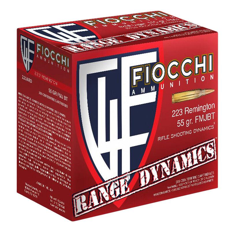 Fiocchi Shooting Dynamics .223 Remington Ammunition 55 Grain FMJBT 3240 fps