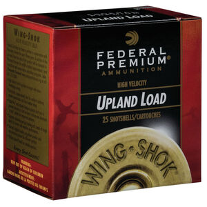 """Federal Wing Shok High Velocity Upland Load 20 Gauge Ammunition 2-3/4"""" #7.5 Copper Plated Lead Shot 1 Ounce 1350 fps"""