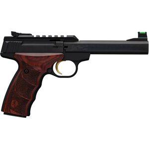 "Browning Buckmark Plus Rosewood UDX Semi Auto Rimfire Pistol .22 LR 5.5"" Barrel 10 Rounds Aluminum Alloy Frame Rosewood UDX Grips Black Finish"