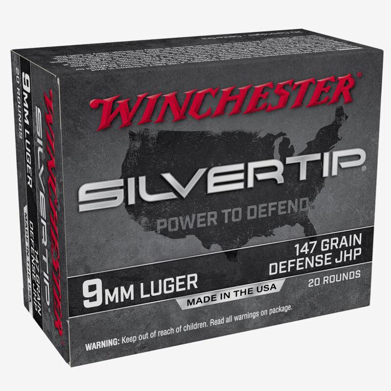 Winchester Silvertip 9mm Luger Ammunition 20 Rounds JHP 147 Grains W9MMST2