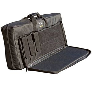 """Galati Gear Double Discreet Square Carry Tactical Weapon 38"""" Nylon Black SQ38 D"""