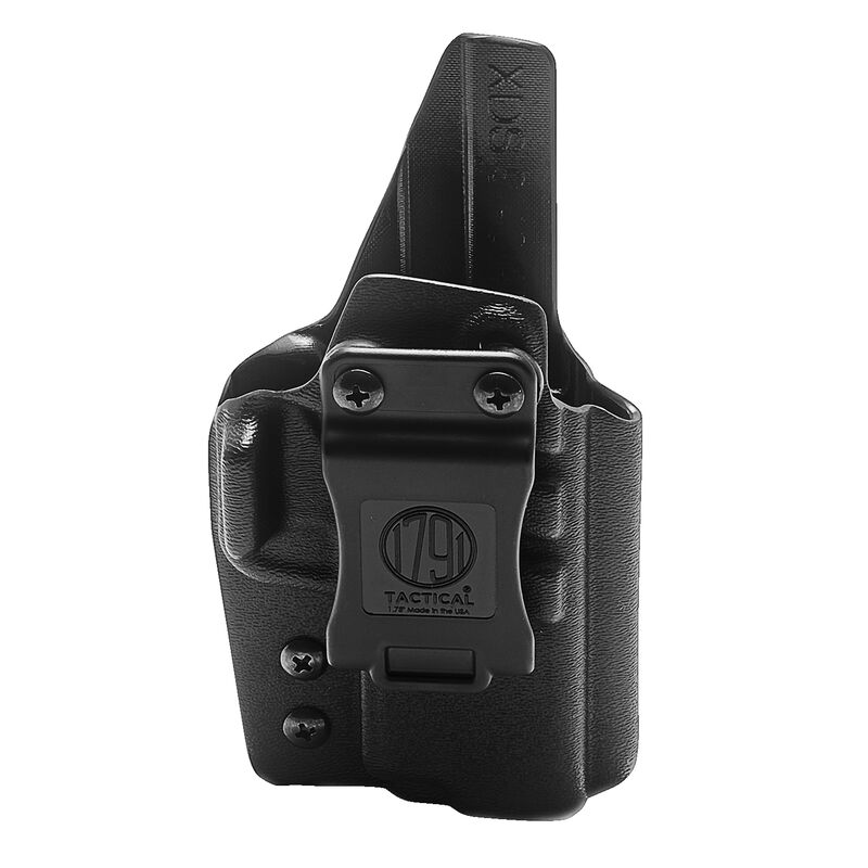 1791 Gunleather Tactical Kydex Multi-Fit IWB Holster for Springfield XDs Semi Auto Pistols Right Hand Draw Kydex Black