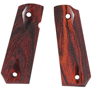 Hogue 1911 Government Model Bobtail Ambidextrous Safety Cut Checkered Cocobolo