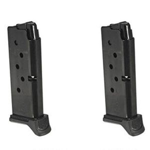 Ruger LCP II 6 Round Magazine .380 ACP Extended Polymer Base Plate Steel  Blued Finish 2 Pack