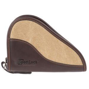 "Birchwood Casey SportLock 8"" Leather/Canvas Handgun Case"