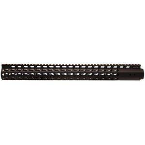 "Leapers UTG PRO AR-15 Super Slim Free Float Keymod Rail 17"" Aluminum Black MTU037SSK"