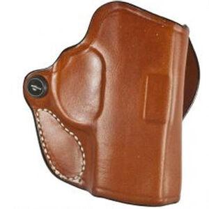 DeSantis Mini Scabbard Fits GLOCK 29/30 H&K P2000 Belt Slide Holster Right Hand Leather Tan