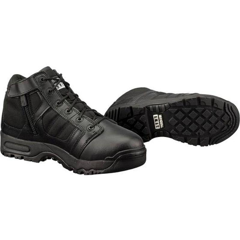 "Original S.W.A.T. Metro Air 5"" Side Zip Men's Boot Size 7 Regular Non-Marking Sole Leather/Nylon Black 123101-7"
