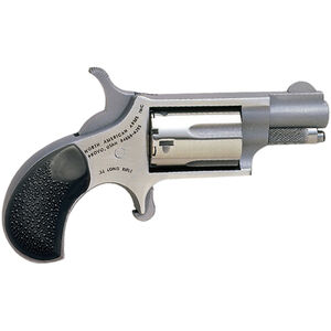 "North American Arms .22 LR Mini-Revolver 5 Rounds 1.125"" Barrel Rubber Grips with Cobblestone Texture Stainless Frame and Finish"