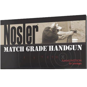Nosler Match Grade Handgun Ammunition 9mm Luger JHP, 124 Grain, 1200 FPS 50 Rounds