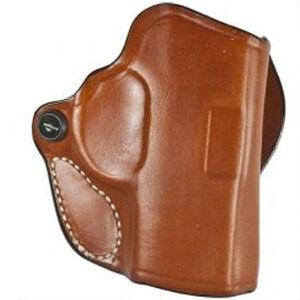 "DeSantis Mini Scabbard Holster Taurus 709 Slim 9mm OWB 1.5"" Belt Right Hand Leather Tan"