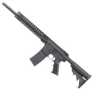 "CMMG Mk4 B16 AR-15 Semi Auto Rifle 5.56 NATO 16"" Bull Barrel 30 Rounds KeyMod Handguard Collapsible Stock Black"