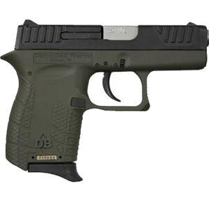 "Diamondback DB380 .380 ACP Semi Automatic Pistol 6 Rounds 2.80"" Barrel Two Tone OD Green Polymer Frame Black Finish"