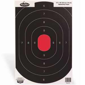 "Birchwood Casey Dirty Bird 12""x18"" Silhouette Paper Target White Splatter Indoor/Outdoor Eight Pack 35608"