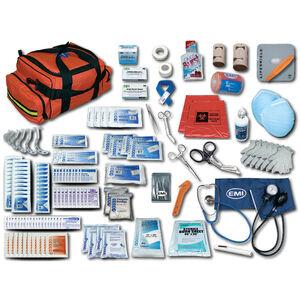Emergency Medical International EMI Pro Response 2 Complete Trauma Kit First Aid and Trauma Supplies and Equipment Nylon Orange 830
