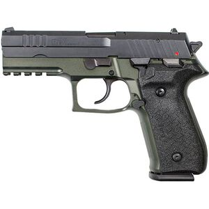 "FIME Group Rex Zero 1S 9mm Luger Semi Auto Pistol 4.3"" Barrel 17 Rounds Metal Frame Two Tone OD Green/Black Finish"