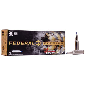 Federal Premium Terminal Ascent 300 WSM Ammunition 20 Round Box 200 Grain Terminal Ascent Projectile 2810fps