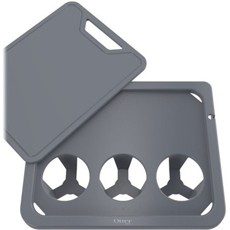 Otterbox Side Table Cooler Accessory Cutting Board and Cup Holder Polymer Slate Gray