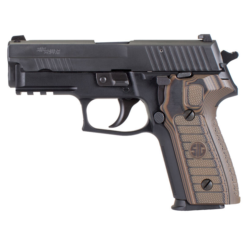 "SIG Sauer P229 Select Semi Auto Pistol 9mm Luger 3.9"" Barrel 15 Rounds SIGLite Night Sights SIG Rail Custom G10 Grips Stainless Steel Slide/Alloy Frame Nitron Black Finish"