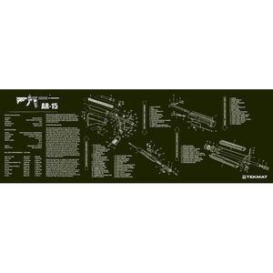 """TekMat """"AR-15"""" Armorers Bench Mat 12""""x36""""x1/8"""" Neoprene OD Green 36-AR15OD"""