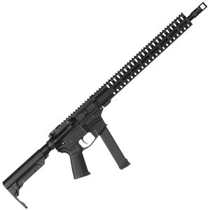 "CMMG Resolute 200 MkGs 9mm Luger AR-15 Semi Auto Rifle 16"" Barrel 33 Rounds Uses GLOCK Style Magazines RML15 M-LOK Handguard RipStock Collapsible Stock Black Finish"