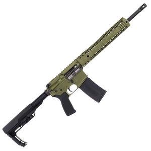 "Black Rain Ordnance SPEC15 5.56 NATO AR-15 Semi Auto Rifle 16"" Barrel 30 Rounds Free Float Hybrid Hand Guard Collapsible Stock OD Green"