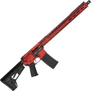 "Black Rain BRO Spec 3G 5.56 NATO AR-15 Semi Auto Rifle 18"" Barrel 30 Rounds M-LOK Compatible Free Float Handguard Collapsible Stock Battleworn Red Cerakote Finish"